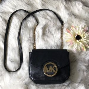 Michael Kors Black Fulton crossbody bag